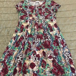 Lovely floral ladies dress.